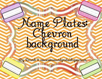 Name Plates--Chevron Background
