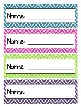 Name Plates - Chevron - Multicolored