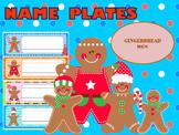 Name Tags : Christmas Gingerbread Men