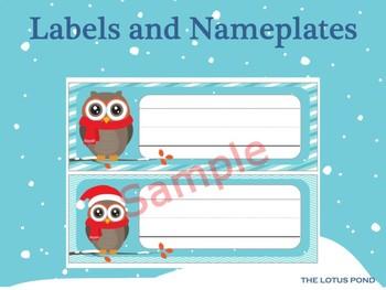 Name Plates : Christmas Owl