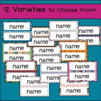 Name Plates / Classroom Labels (Editable!)  Aztec / Boho Style