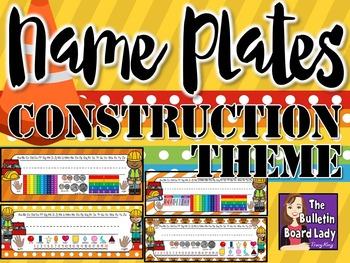 Name Plates Construction Theme