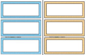 Name Plates / Desk Labels --> Polka Dots Theme