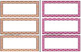 Name Plates / Desk Labels --> Stitched Chevron Theme