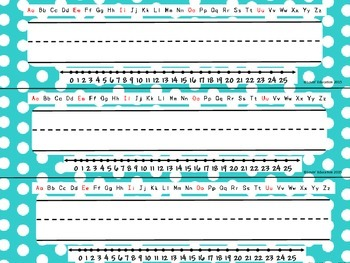 Name Plates - Desk Tags - Polka Dots