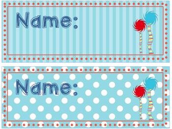 Name Plates- Dr. Seuss Edition
