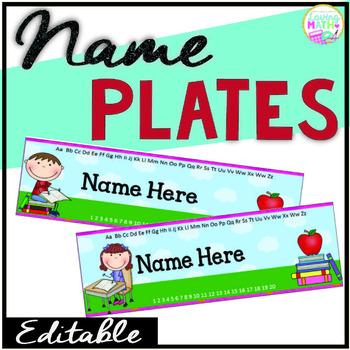Name Plates {EDITABLE}