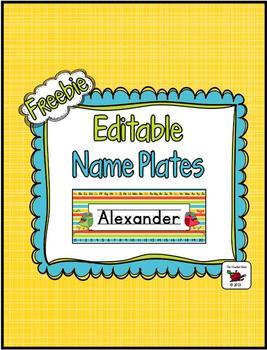 Name Plates (Editable) FREEBIE