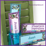 Name Plates – Editable Labels - Coordinates with Book Smart Owls Classroom Theme