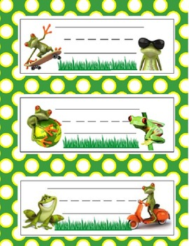 Name Plates - FROGS