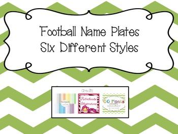 Name Plates- Football