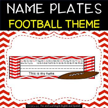 Name Plates - Football Theme