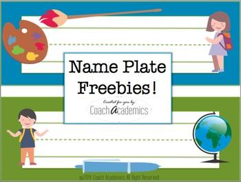 Name Plates {Freebie}