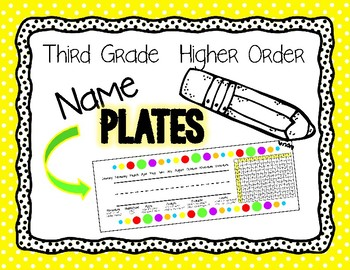 Name Plates- Higher Order Thinking