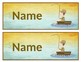 Name Plates: Hooked on Learning/Fish/Fishing