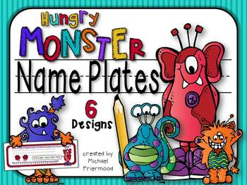Name Plates {Hungry Monsters}
