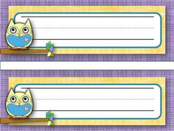Nameplates Owl