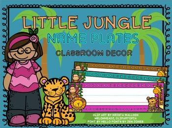 Name Plates - Jungle