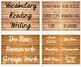 Name Plates Labels Editable in Wood Grain