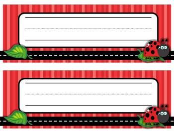 Nameplates Ladybug