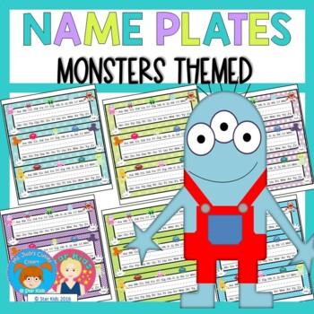 Name Plates {Mini Monster Themed}