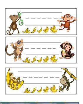 Name Plates - Monkeys