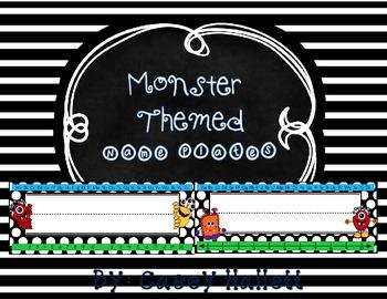 Name Plates {Monster Theme}