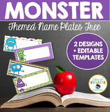 Name Plates Monster Themed