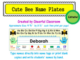 Name Plates / Name Tags - Editable (Cute Bee Theme)