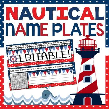 Name Plates - Nautical Theme {EDITABLE!}