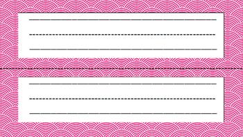 Name Plates Navy & Pink