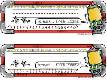 Name Plates {Nutty Robots}