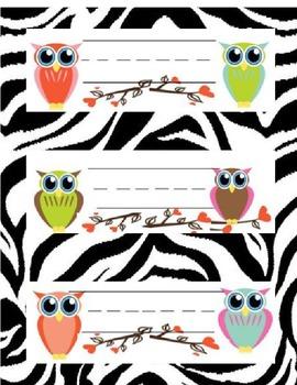Name Plates - OWLS