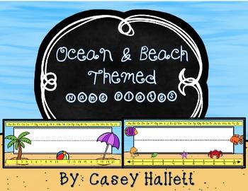Name Plates {Ocean & Beach Theme}