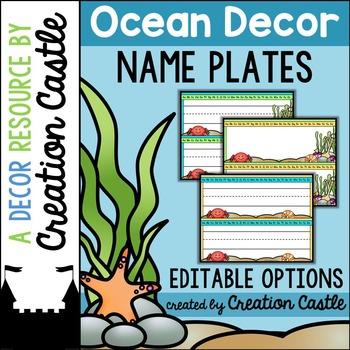 Name Plates - Ocean Decor
