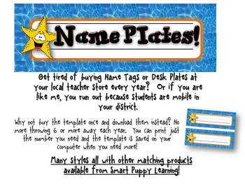Nameplates Oceans of Fun