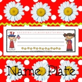 Name Plates: Patriotic Kids 1 - Modifiable PDFs