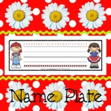 Name Plates: Patriotic Kids 2 - Modifiable PDFs