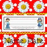 Name Plates: Pen Pals - Modifiable PDFs