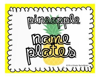 Name Plates - Pineapple