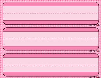 Name Plates - Pink Dots