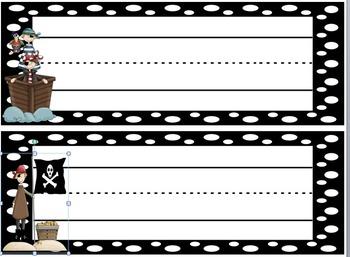 Name Plates Polka dot Pirate