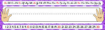 Name Tags/Name Plates in a Fun Purple Theme - EDITABLE