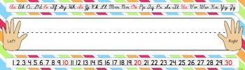 Name Tags/Name Plates in a Fun Stripe Theme - EDITABLE