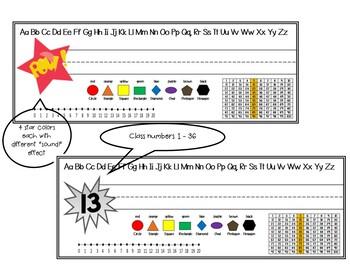 Name Plates - Print with Math Helpers- Superhero Themed