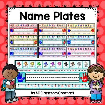 Polka Dot Name Plates (Rainbow Big Dots 9 colors)-Classroom Decor