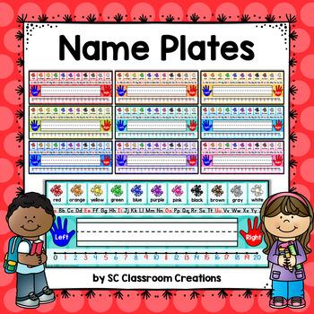 Polka Dot Name Plates (Rainbow Big Dots 9 colors)