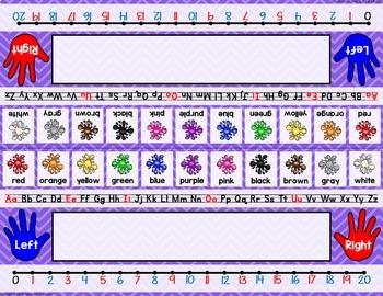 Chevron Name Plates (9 colors)-Classroom Decor