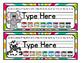 Name Plates - Safari Animals Theme