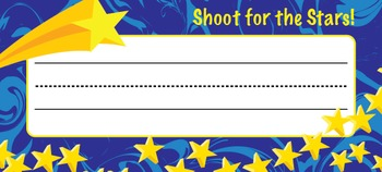 Name Plates: Shoot for the Stars Theme